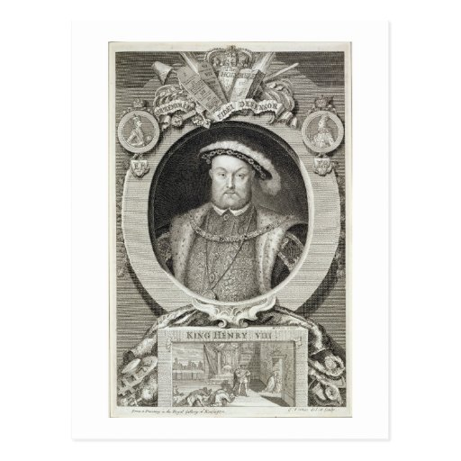 Henry VIII (1491-1547), after a painting in the Ro Postcards