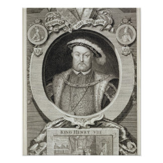 Henry VIII (1491-1547), after a painting in the Ro Poster