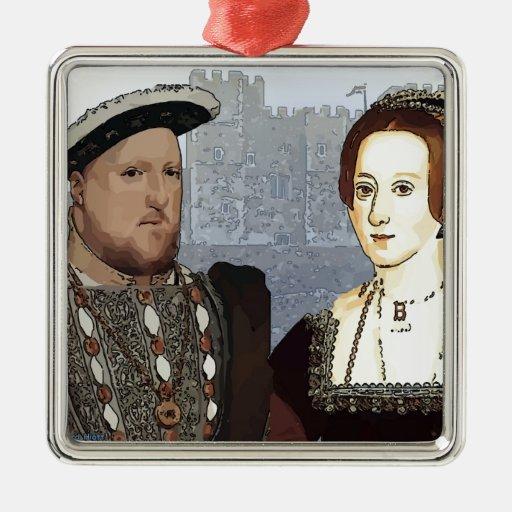 Henry VIII and Ann Boleyn Christmas Ornament