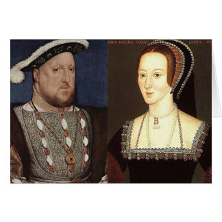 Henry VIII and Anne Boleyn Greeting Card