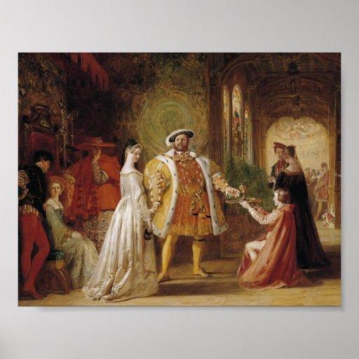 Henry VIII and Anne Boleyn Print