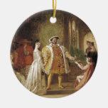 Henry VIII and Anne Boleyn Round Ceramic Decoration