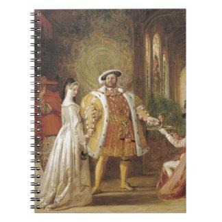 Henry VIII and Anne Boleyn Spiral Note Books