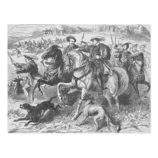 Henry VIII at the Royal Hunt in Epping Forest Post Card