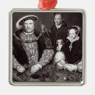 Henry VIII, his daughter Queen Mary Christmas Ornament