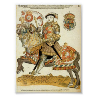Henry VIII of England on Horseback Poster