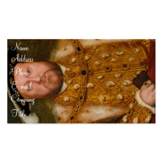 'Henry VIII' Pack Of Standard Business Cards