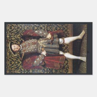 Henry VIII Portrait Rectangular Sticker