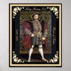Henry VIII Portrait with Framed Edges Poster