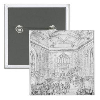 Henry VIII receiving Montmorency 15 Cm Square Badge