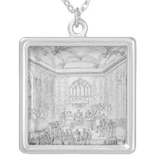 Henry VIII receiving Montmorency Square Pendant Necklace