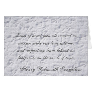 Henry Wadsworth Longfellow , Lives of g... Greeting Card
