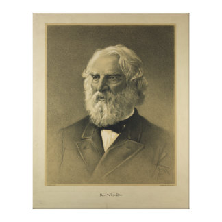 Henry Wadsworth Longfellow Portrait 1888 Stretched Canvas Prints