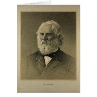 Henry Wadsworth Longfellow Portrait 1888 Greeting Card