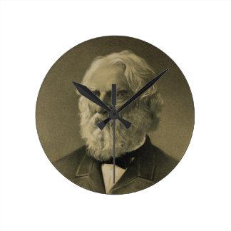 Henry Wadsworth Longfellow Portrait 1888 Clock