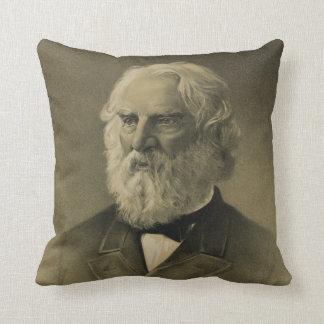 Henry Wadsworth Longfellow Portrait 1888 Pillow