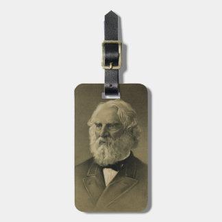 Henry Wadsworth Longfellow Portrait 1888 Bag Tags