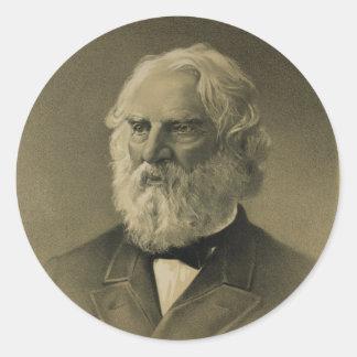 Henry Wadsworth Longfellow Portrait (1888) Round Sticker