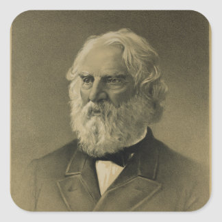 Henry Wadsworth Longfellow Portrait 1888 Stickers