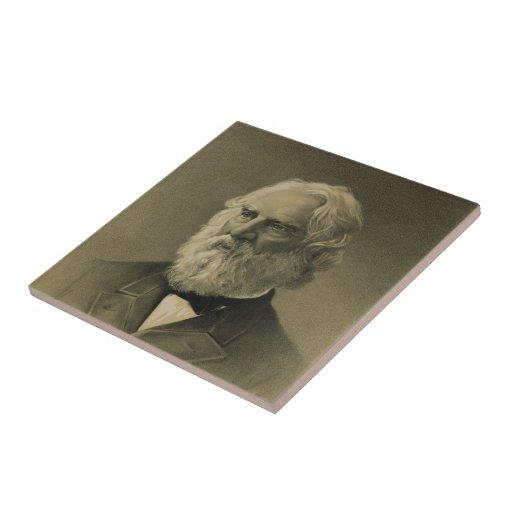 Henry Wadsworth Longfellow Portrait (1888) Tiles