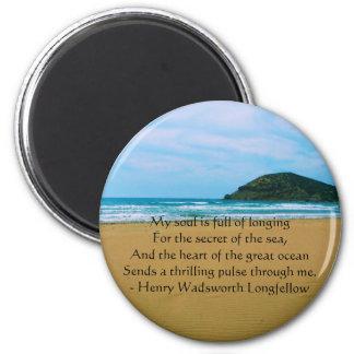 Henry Wadsworth Longfellow Spiritual Quote 6 Cm Round Magnet