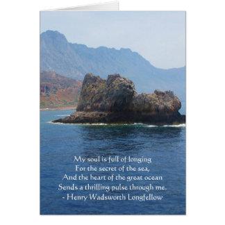 Henry Wadsworth Longfellow Spiritual Quote Greeting Card