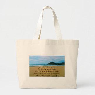Henry Wadsworth Longfellow Spiritual Quote Jumbo Tote Bag