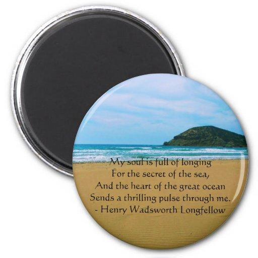 Henry Wadsworth Longfellow Spiritual Quote Refrigerator Magnets