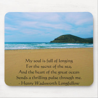 Henry Wadsworth Longfellow Spiritual Quote Mouse Pad
