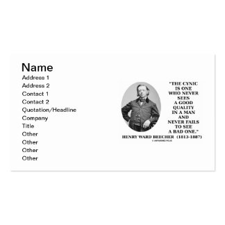 Henry Ward Beecher Cynic Definition Good Quality Pack Of Standard Business Cards