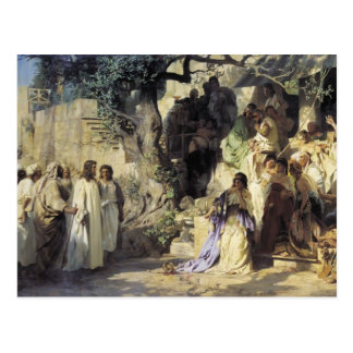 Henryk Siemiradzki- Christ and Sinner Postcard