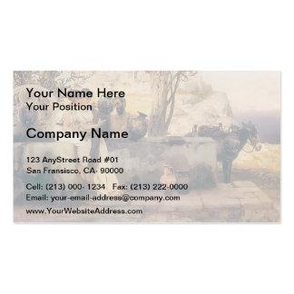Henryk Siemiradzki- Seller vases Business Card
