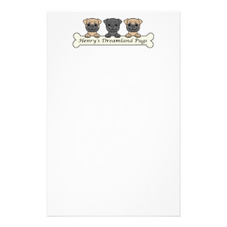 Henry's Dreamland Pugs Stationery