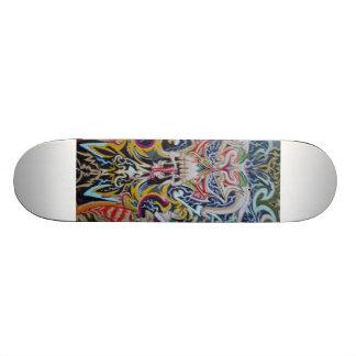 Henry's lightning skull custom skate board
