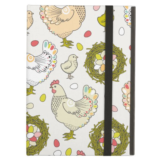 Hens, eggs and nests iPad air case