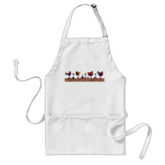 Hens in a Row - Apron