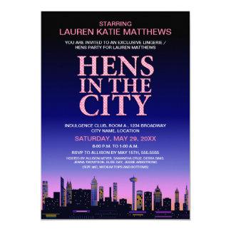 Hens' / Lingerie Movie Poster Party 13 Cm X 18 Cm Invitation Card