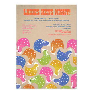 Hens Night Bachelorette Party Wedding Invite