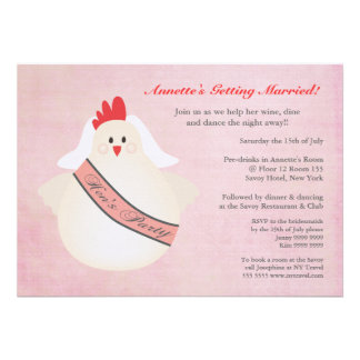 Hen's Party Funny Chicken Illustrated Invite