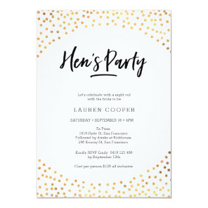 Hen's Party Invitation | Gold spots