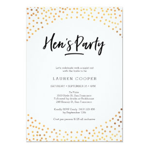 Hen/'s party print Copper foil HENS party sign personalised hens poster name