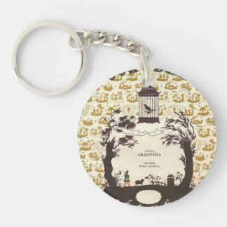 Heorhiy Narbut- Cover of 'Nightingale' Single-Sided Round Acrylic Key Ring