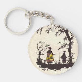 Heorhiy Narbut- Illustration to 'Nightingale' Single-Sided Round Acrylic Key Ring