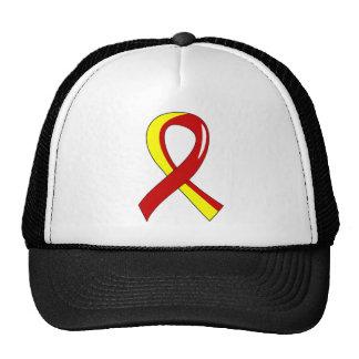 Hepatitis C Red Yellow Ribbon 3 Cap