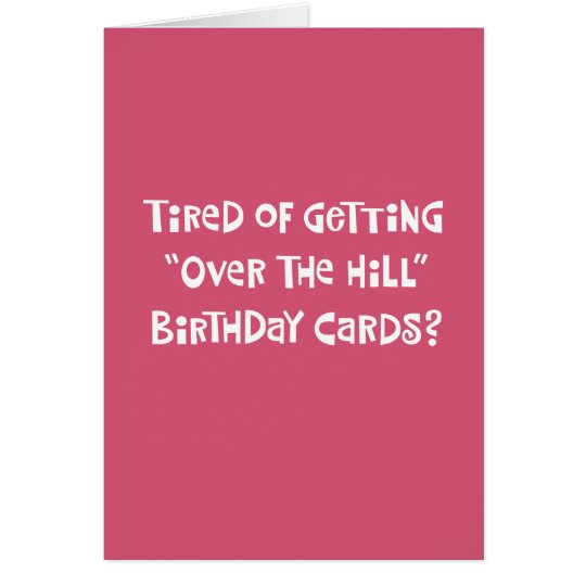"Her 50th ""Over the Hill"" Birthday Card Humour"