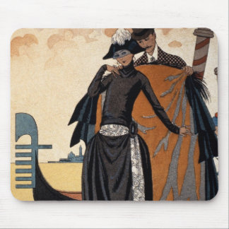 Her and Him, Fashion Illustration, 1921 (pochoir p Mouse Mat