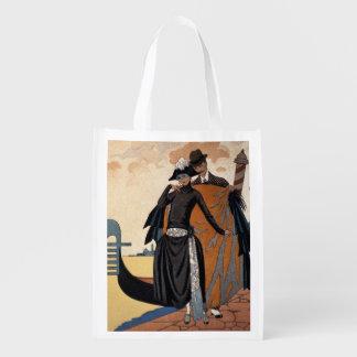 Her and Him, Fashion Illustration, 1921 (pochoir p Market Totes