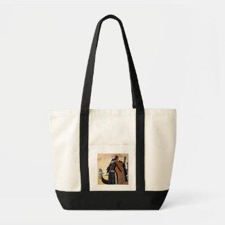 Her and Him, Fashion Illustration, 1921 (pochoir p Impulse Tote Bag