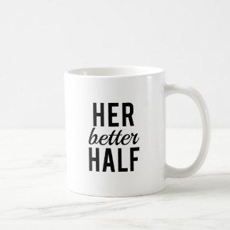 Her better half, word art, text design basic white mug