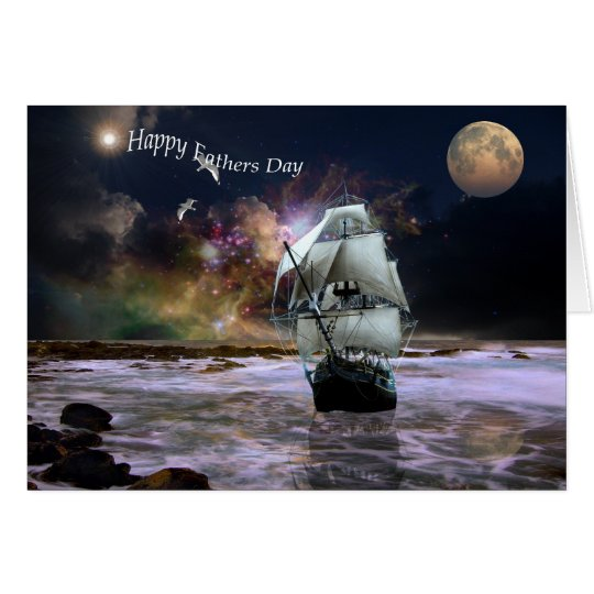 Her guiding star fathers day Card